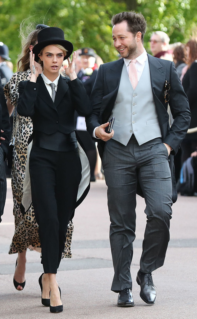 Cara Delevigne, Derek Blasberg, Princess Eugenie Royal Wedding